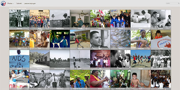 Screen capture of a Peace Corps Media Library website page.