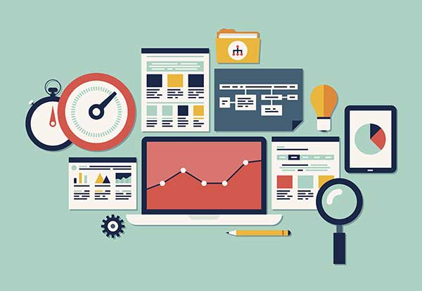 Website SEO and analytics graphics