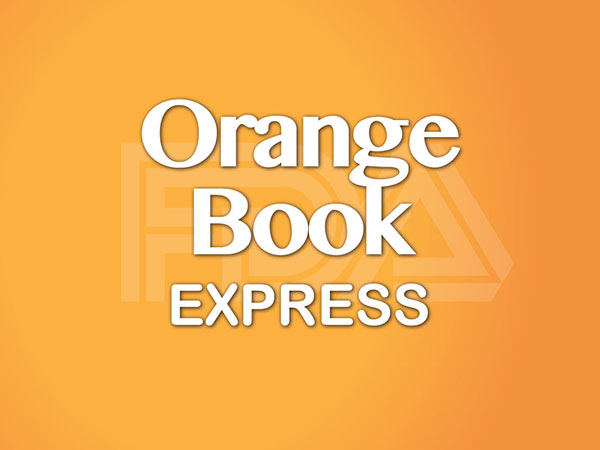 Logo for the Federal Drug Administration's Orange Book Express app