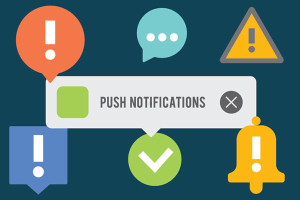 Push notifications elements set