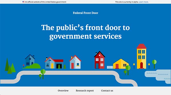 Screen capture of the Federal Front Door microsite.