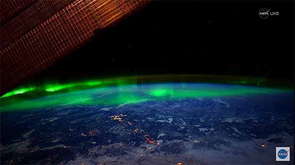 Aurora Borealis from Space in Ultra-High Definition (4K)