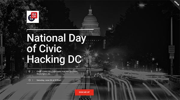Register for 2016 National Day of Civic Hacking