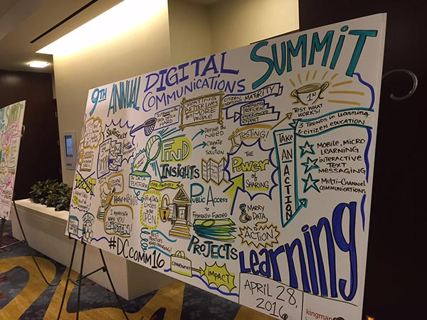 Illustration board from the 9th annual Government Digital Communications Summit