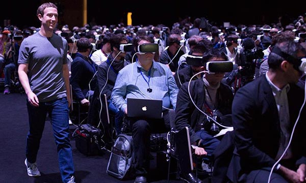 Mark Zuckerberg at Samsung's Gear VR event in 2016