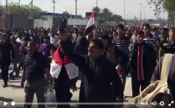 MBN's Raise Your Voice division broadcasted live from protests in Baghdad earlier this year