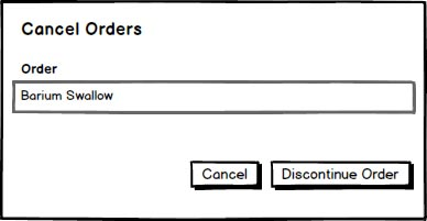 Figure 5: Mockup #4 - Cancel/Discontinue Function.
