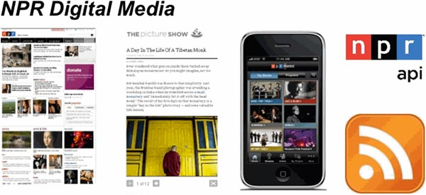 Composite image of NPR Digital Media examples.