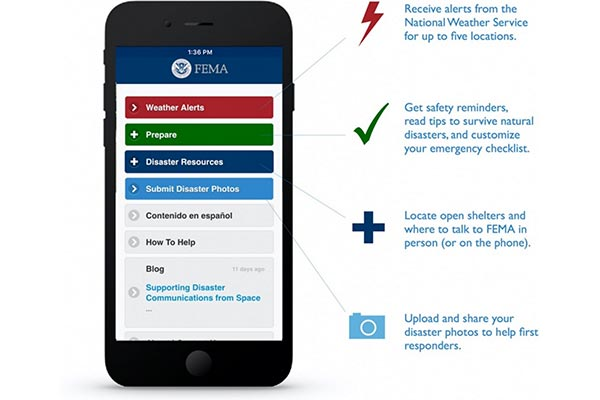 FEMA app in English.