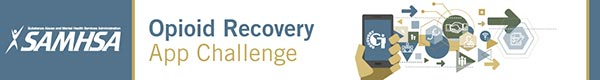 SAMHSA Opioid Recovery App Challenge banner.