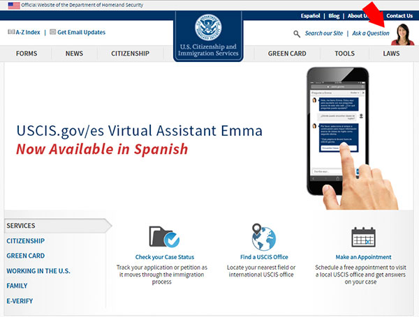 Emma: Friendly Presence and Innovative USCIS Resource