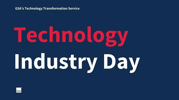 Technology Industry Day title slide.