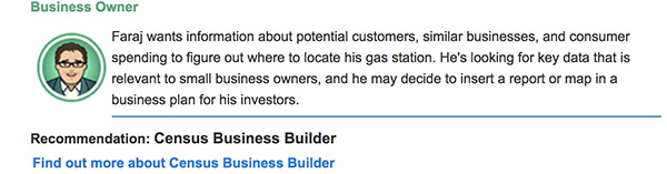 Screen cap of the Business Owner profile.