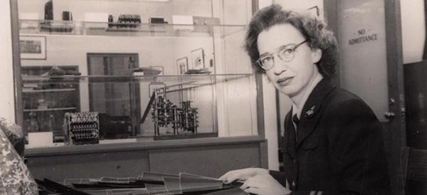 Grace Hopper at her desk in 1947.