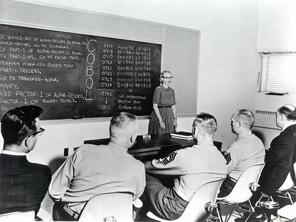 Grace Hopper teaching COBOL.