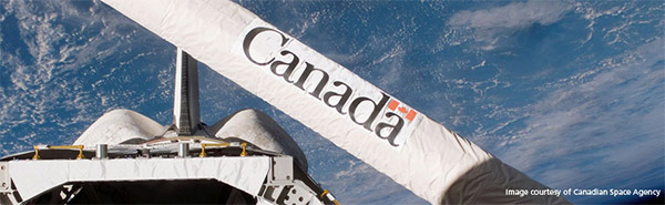Canadian Space Agency (CSA) logo on equipment