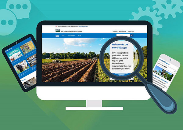 Find the information you need, faster, with the redesigned USDA.gov website.