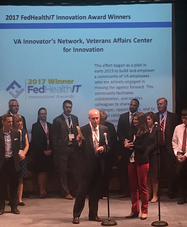 VA Innovators Network accepts the FedHealthIT Award (June 2017)