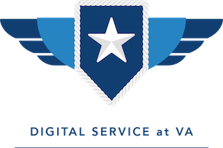 Logo for the U.S. Digital Service at Veterans Affairs (VA).