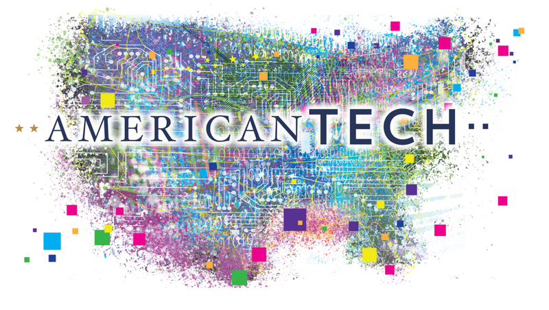 A card with the title of the event and an illustration of the United States as a network of connecting nodes.