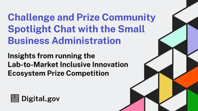 Spotlight Chat: Planning a Federal Prize Competition