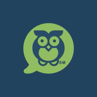 The green Federal Student Aid owl icon for the AIDAN virtual assistant is on a dark blue background.