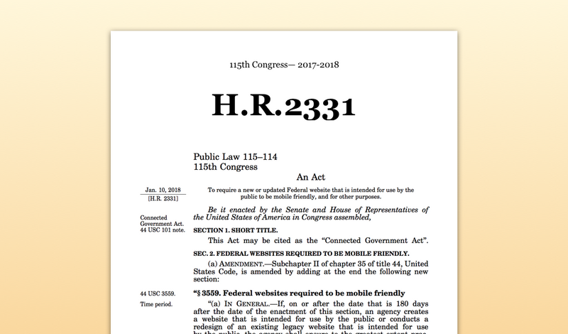 H.R. 2331 / The Connected Government Act