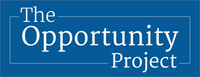 The Opportunity Project logo on a blue background