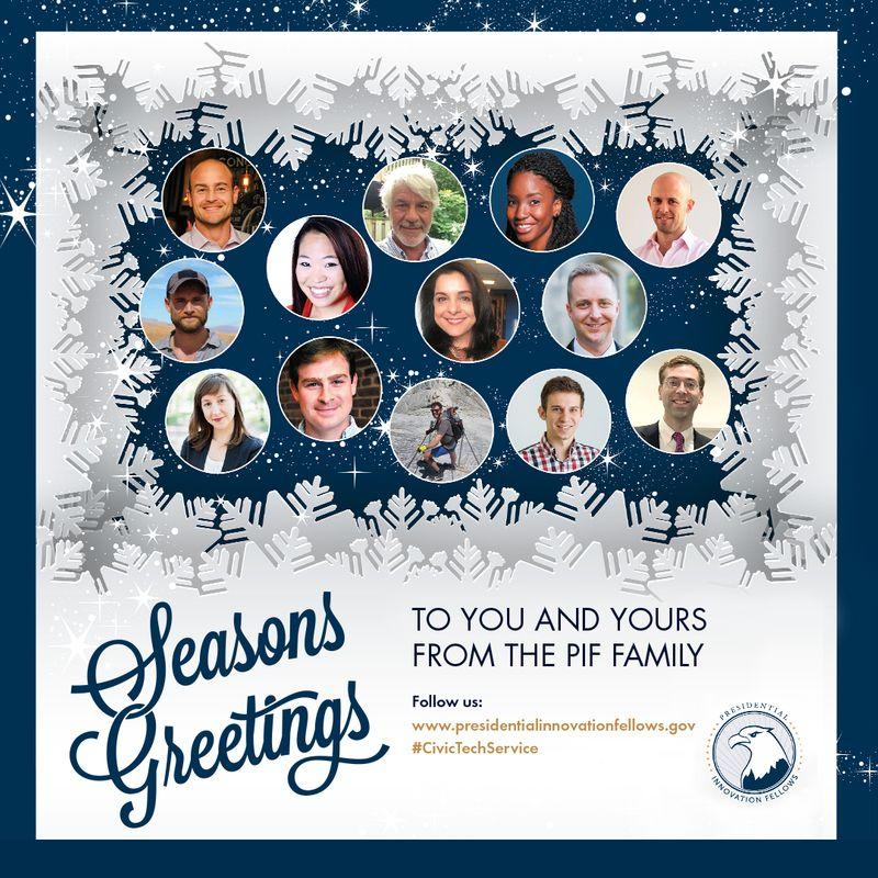 Presidential Innovation Fellows 2018 Holiday Card
