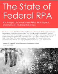 State of Federal RPA report cover