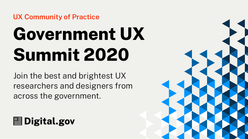 Government UX Summit 2020