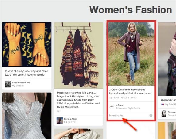 Pinterest Native Advertising