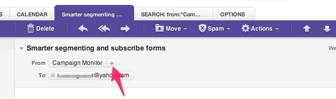 Yahoo Mail whitelisting