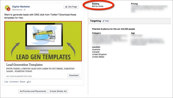 Facebook Advertising Objective Clicks to Website