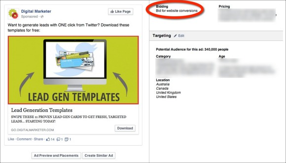 Facebook Advertising Objective Website Conversions