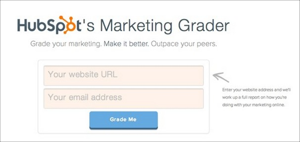 "HubSpot's ""Marketing Grader"" Lead Magnet"