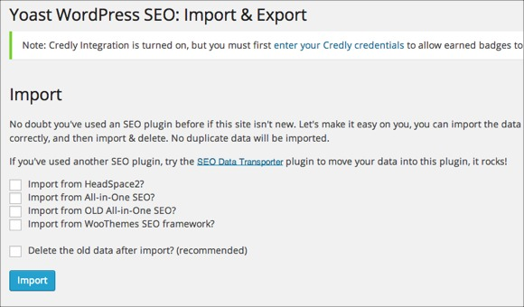 SEO Data Transporter