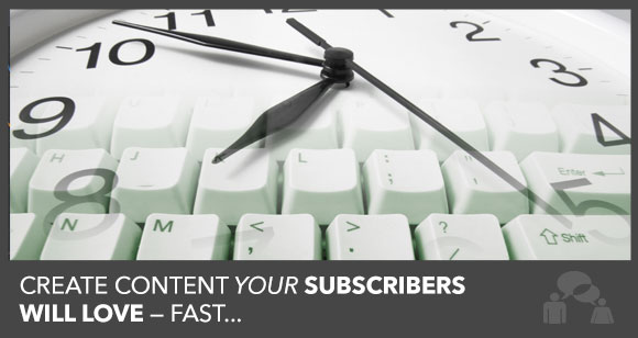 Create Blog Content Fast
