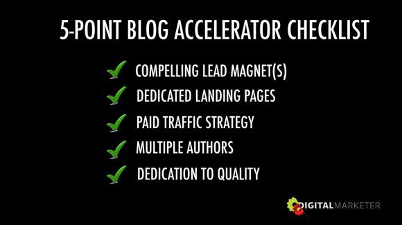 Blog Accelerator Checklist