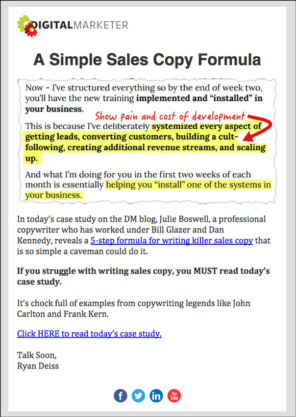 Swipe] Digital Marketer'S Best Email Body Copy