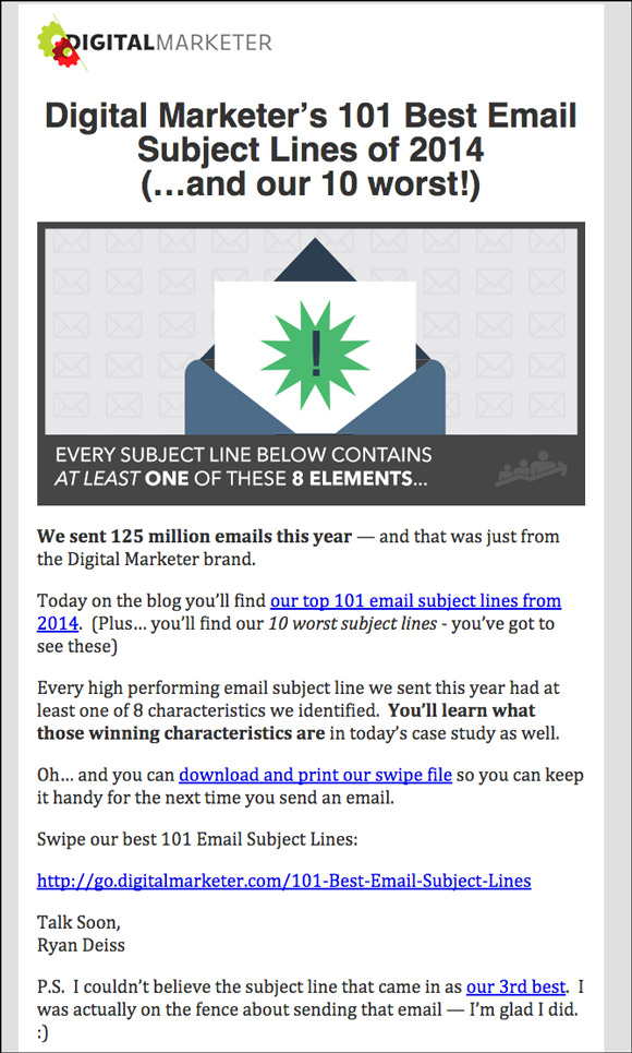 best email subject lines dating