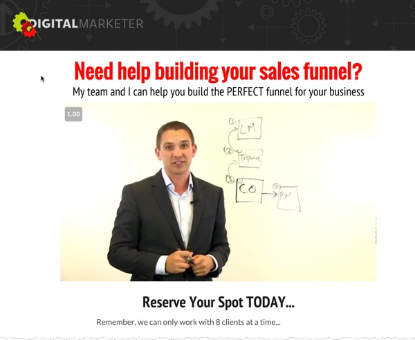 Magic Question Funnel Page
