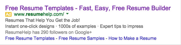 Resume Builder's Landing Page