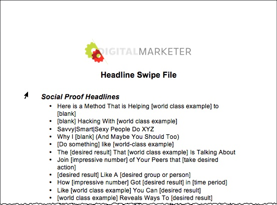 Blog Post Headline Swipe File