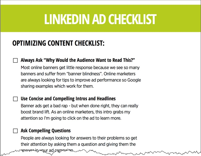 LinkedIn Ads Checklist