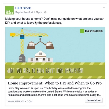 Social Media Ideas for H&R Block