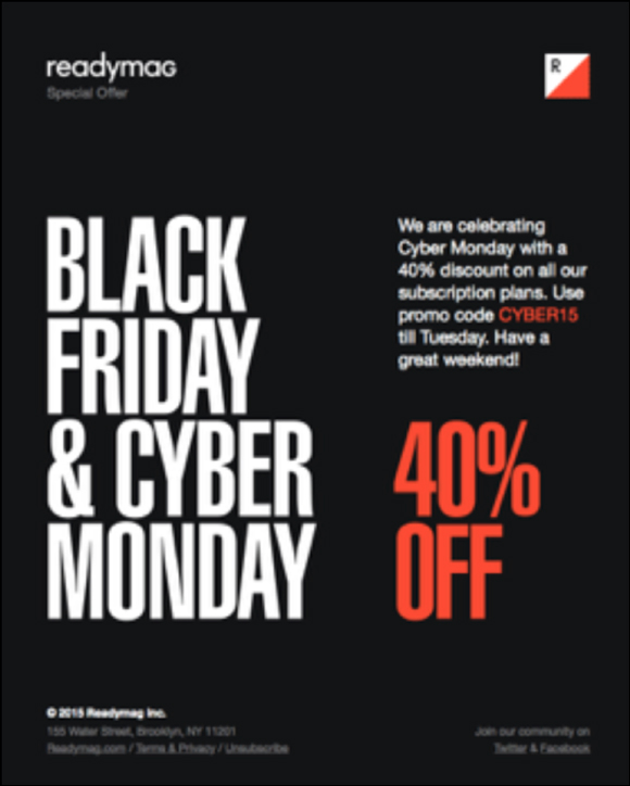 Black Friday eCommerce Email
