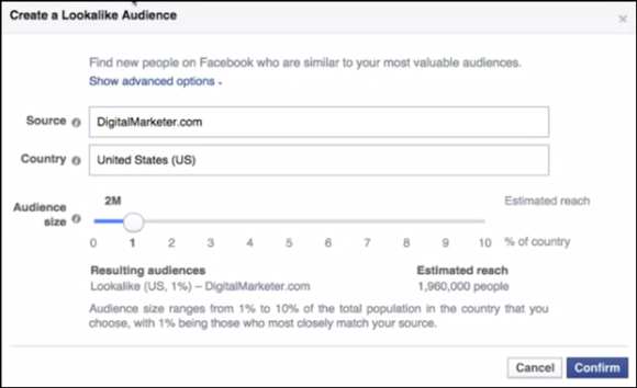 Lookalike Audience Facebook Ads Manager