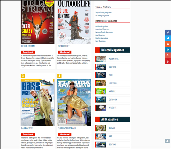 Top Fishing Magazines