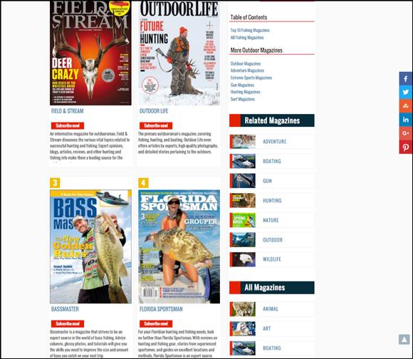 Principais revistas de pesca